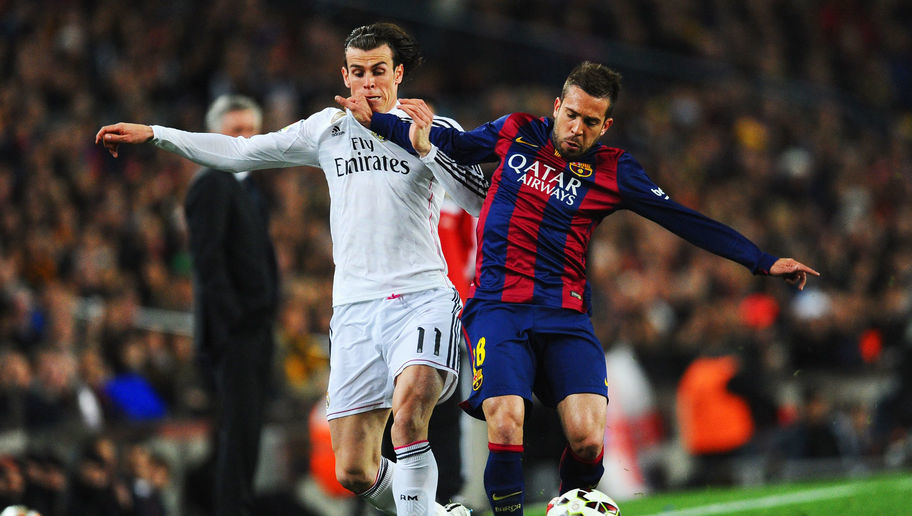 during the La Liga match between FC Barcelona and Real Madrid CF at Camp Nou on March 22, 2015 in Barcelona, Spain.