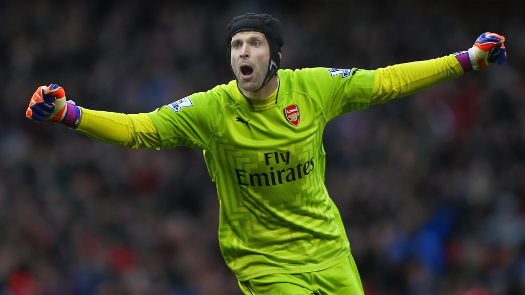 LONDON, ENGLAND - MARCH 01:  Goalkeeper David Ospina of Arsenal celebrates during the Barclays Premier League match between Arsenal and Everton at Emirates Stadium on March 1, 2015 in London, England.  (Photo by Paul Gilham/Getty Images)